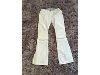 White slim fit saltopettes (uk xs/s worn once)