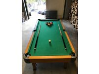 pool table, excellent condition 6ft x 3ft with 2 cues, triangle and balls. Collection only