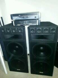 Two speakers and two amp set up