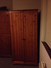 3 solid pine double wardrobes