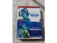 Monsters Inc DVD's