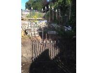Tall garden metal gate