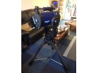 meade 8 inch lx 90 telescope and extras
