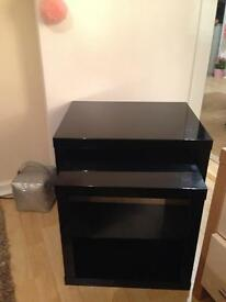 BLACK HIGH GLOSS NEST OF CUBE TABLES