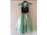 DISNEYS FROZEN ANNA CORONATION DRESS / FANCY DRESS/DRESS UP-SIZE 7-8 YEARS 128cm