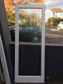 Interior doors - 1960s single pane rippled glass (x3)
