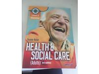 Health and social care book with CD