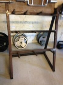 Used standard weight plate stand, heavy duty old school