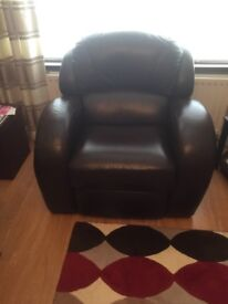 Leather sofa suite Brown