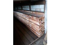 3 & half inch x 1 & three quarter inch timber 12ft lengths £5 per length