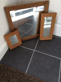 For sale 3x different size mirrors
