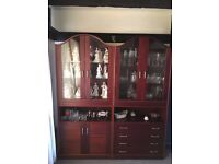 Mahogany Display Cabinets; Glass Fronts. Very Good Condition