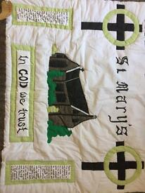Genuine Emmerdale Quilt/wall display made by Edna Birch on set