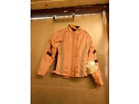 RS ALANA LADIES PINK TEXTILE MOTORCYCLE JACKET SIZE 8 (155)