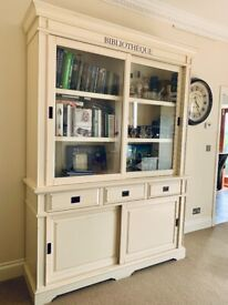 Stunning off white display cabinet