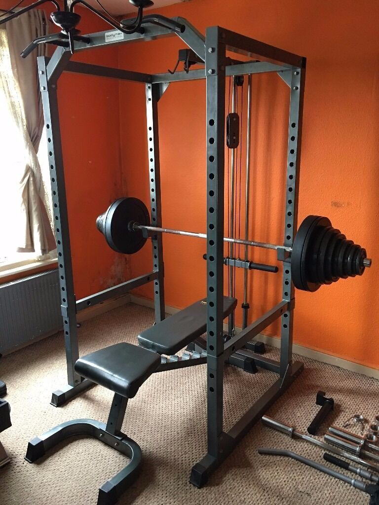 Home gym setup power rack kg olympic weights