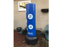 BLITZ professional martial arts punchbag. Indoor or outdoor use. Excellent condition. Number targets