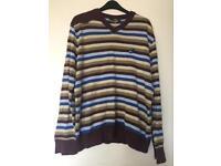 Men's quicksilver stripy jumper medium