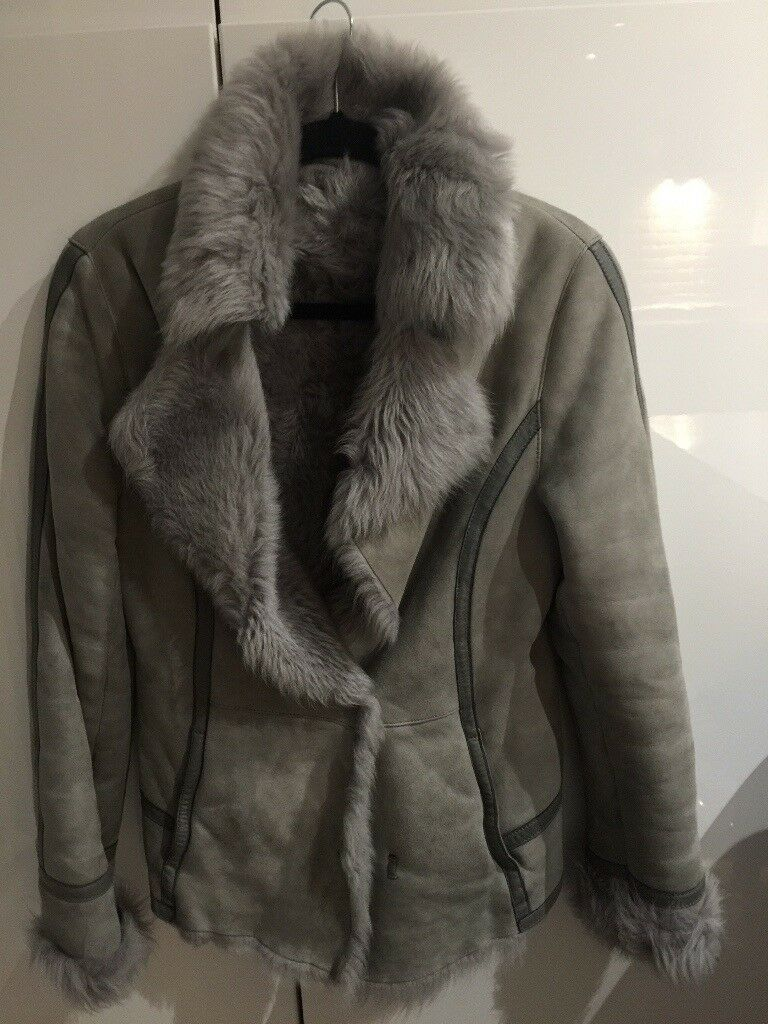 Jacket REISS 100% sheepskin . Grey beautiful jacket on ly worn few times as too small.