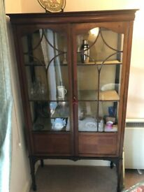 Antique Glass Fronted Display cabinet