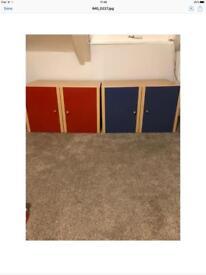 X2 Wall or Floor Cupboards/ Ideal for Kids Bedroom/ Playroom
