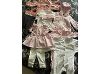 Baby girl 0-3 month clothing bundle