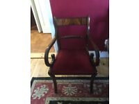Mahogany dining table and eight chairs