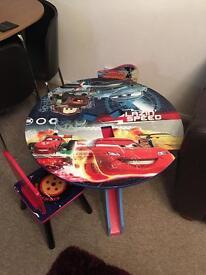 Children's Disney cars table