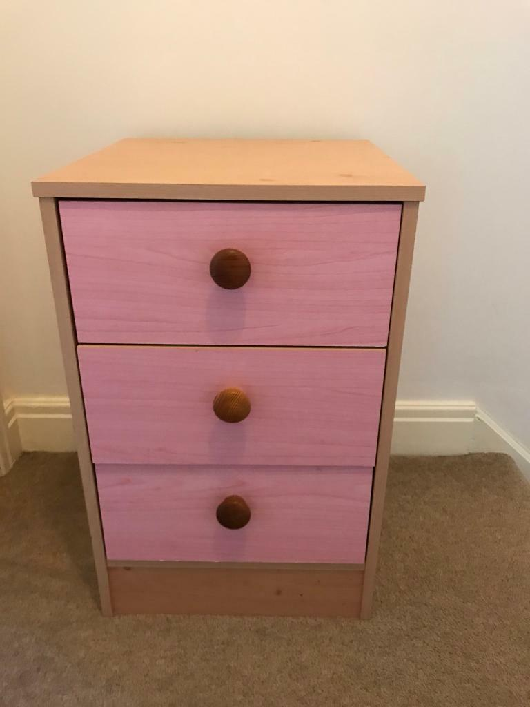 Pink Bedside Table 5 In Corsham Wiltshire Gumtree