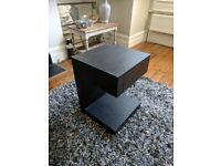 Bedside table - dark wood, good condition