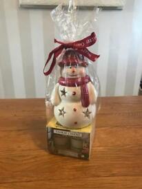 Yankee Candle Tealight Burner Snowman New