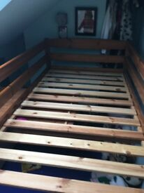 Cabin Bed Mid Sleeper with slide out desk and shelves