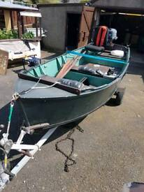 Boat with trailer and Yamaha engine