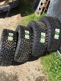 Insa turbo ranger tyres 255/55r18 brand new