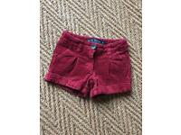 Mini Boden girls 3Y shorts