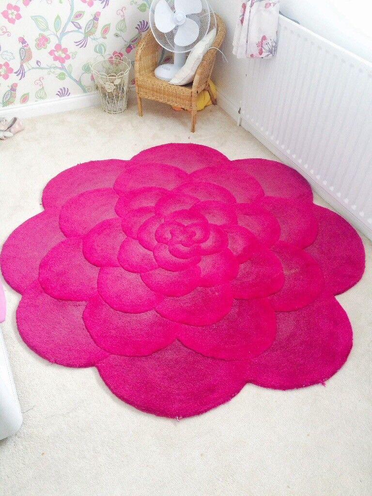 Hot Pink Flower Round Rug Next In Brighton East Sussex Gumtree