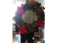 Christmas wreaths and table center pieces