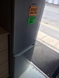 Silver bush fridge freezer £80