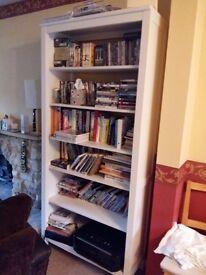 Ikea Hemnes white bookshelves