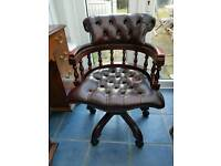 Leather Chesterfield Chair.