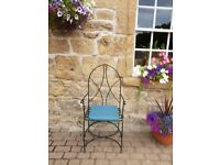 Pair of stylish patio chairs