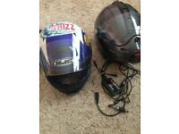 HJC and Carberg motorcycle helmets size S and L