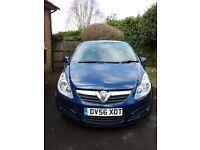 Vauxhall Corsa Life. 56 reg. £1,550. 72,403 miles. Dark blue.