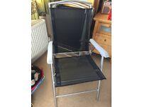 4 aluminium garden chairs