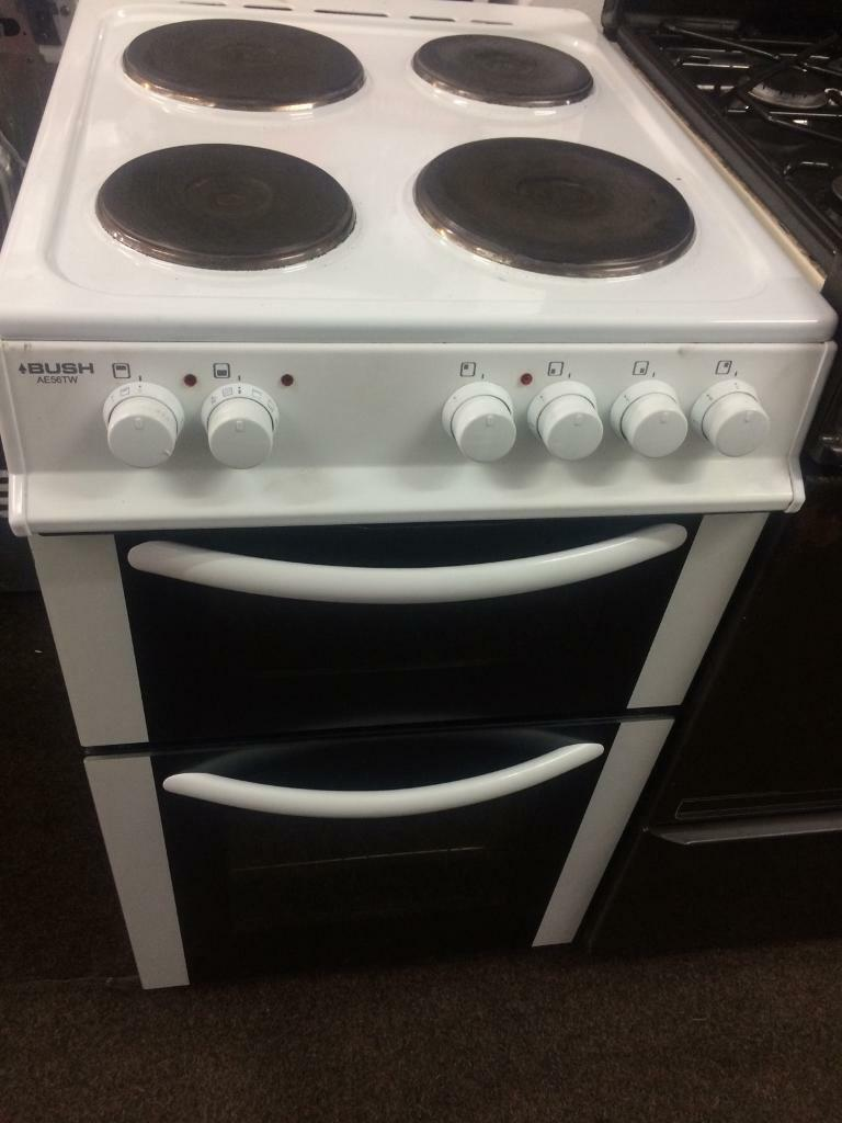 White bush 50cm electric cooker grill & oven good condition with guarantee bargain