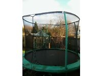 10ft Trampoline, 1yr old, could deliver if local, £50 no offers.