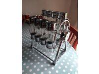 Olde Thompson 20-Jar Ferris Wheel Spice Rack / 30x18x35 cm