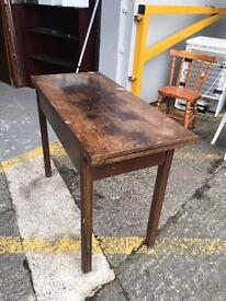 ** OLD WOODEN CARD TABLE **