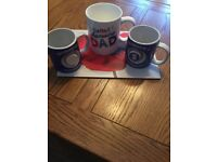 2 BIRMINGHAM CITY MUGS & 1 LARGE DAD MUG
