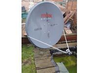 1.2 meter satellite dish with lnb, £35 plus £35 if you would like motor aswell